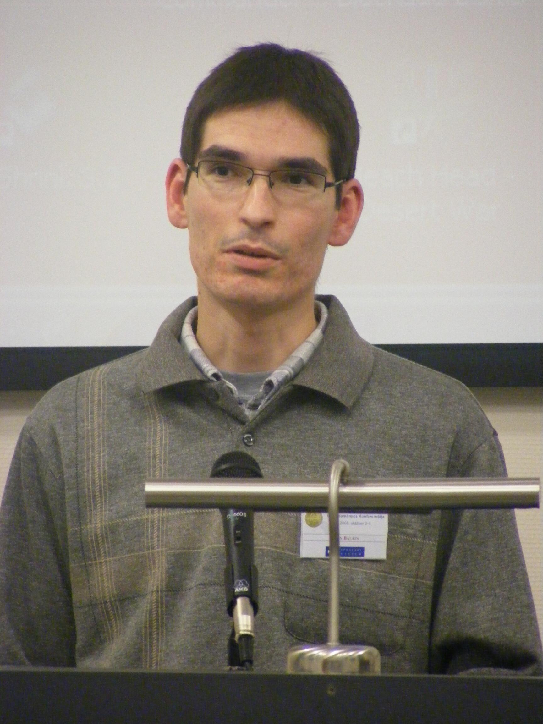 A kaposvári konferencián 2008-ban